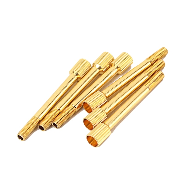 6 Pcs Brass Electric Guitar Tremolo Bridge Saddle Clamp Lock String Screw/String Through Screw/Not Need Insert Block