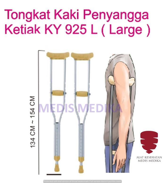 Crutch Kruk Tongkat Ketiak Ukuran L Alat Bantu Jalan Sepasang Large