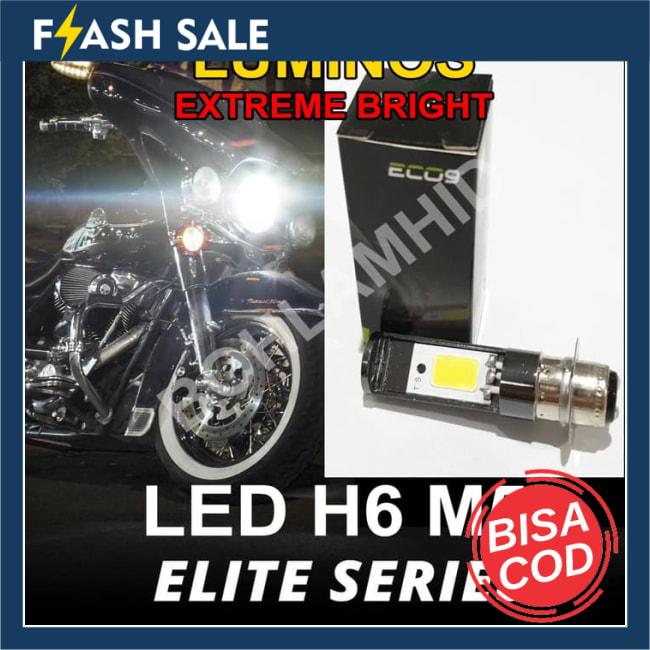 COD!! BARU!!Lampu Motor LED Luminos Honda Beat ESP FI ECO9 H6 M5 T19 Putih || Lampu Motor || Bhid2