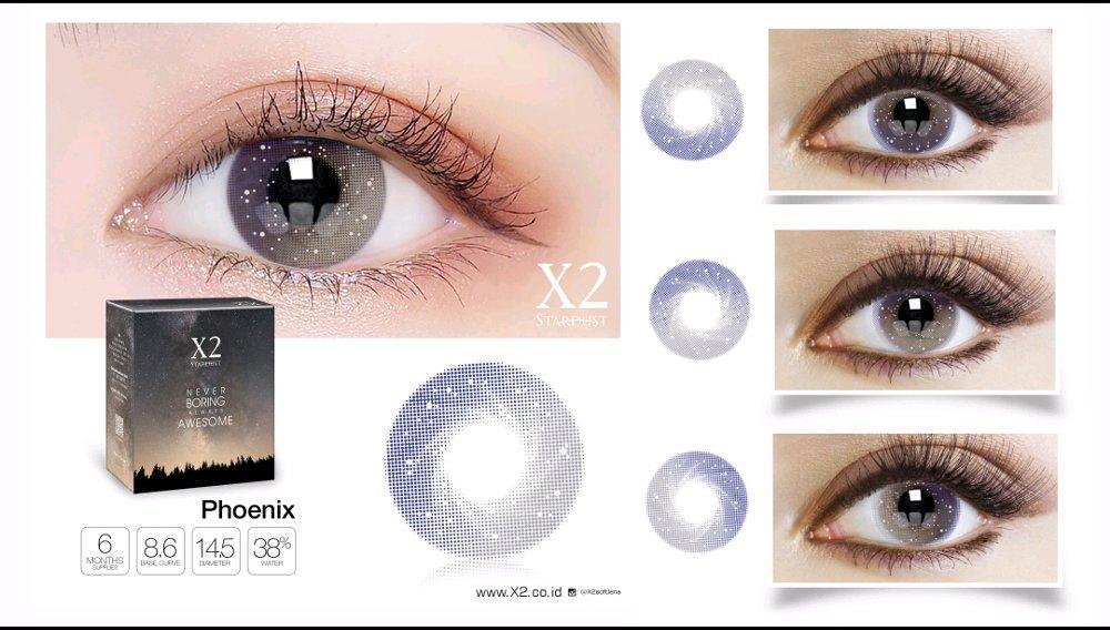 X2 Stardust Softlens Warna Normal Asli Bpom Original Warna Phoenix Awesome