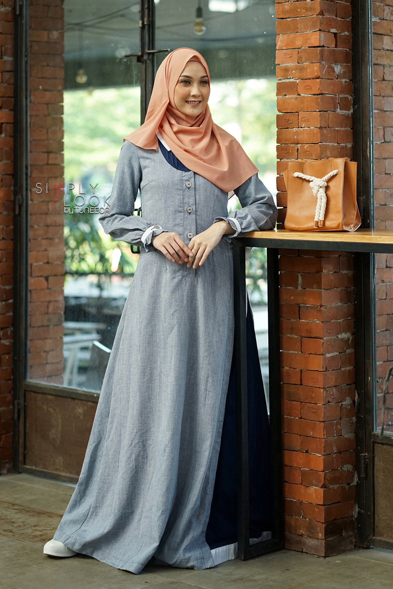 Gamis Branded Tuneeca Simply Look Be Fusion Sl 0320008 Lazada Indonesia