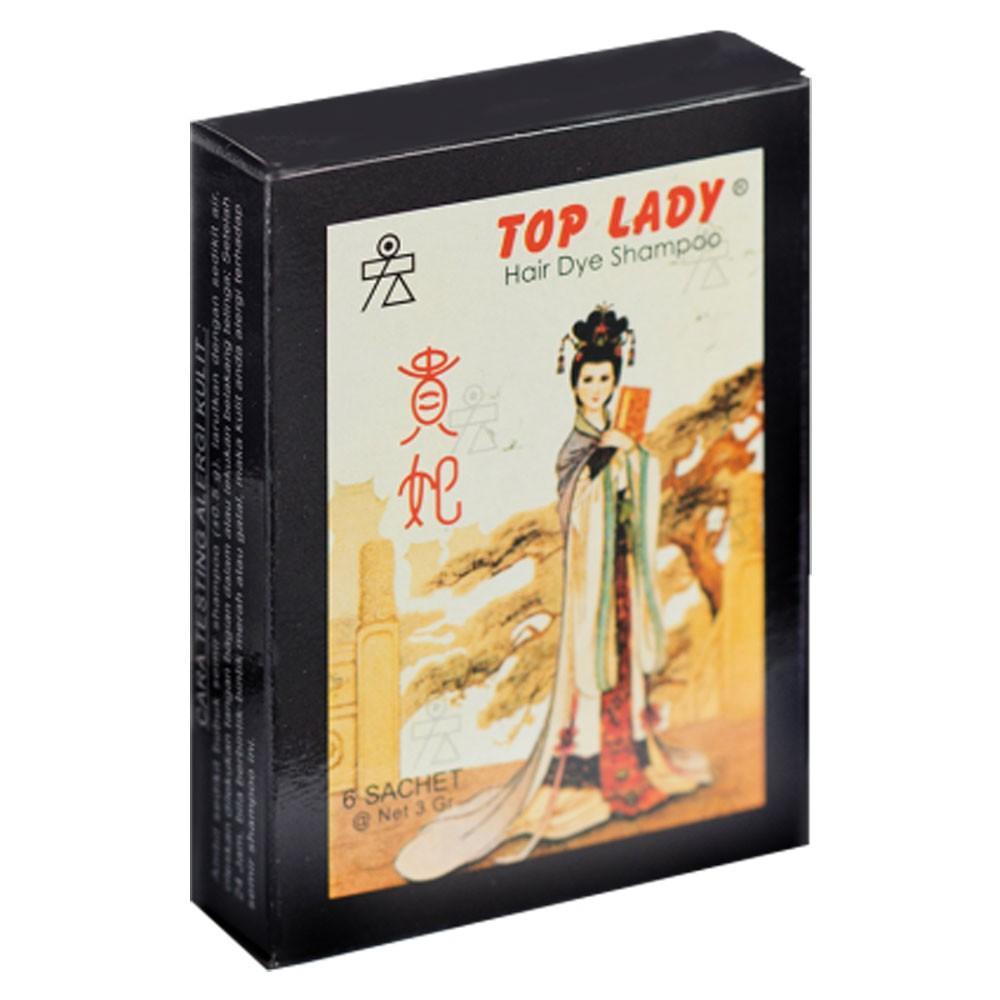 Top Lady Semir Rambut Hair Dye Shampoo - 1 Pack Isi 6pcs