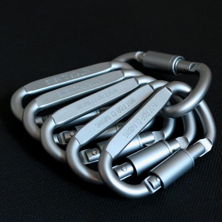 Outdoor Carabiner Quickdraw Buckle Hanging Karabiner Aksesoris By Jongko Derull