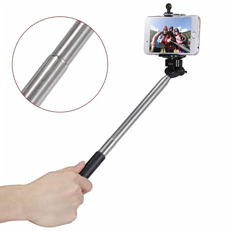 Selfie Stick Kit 4-in-1 + Clip Phone + Bluetooth + Tripod Tripod Mini - Black
