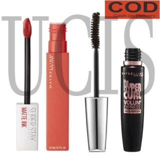 UCIS - ( COD ) Paket Maskara Maybelline Paket Make Up Mascara Maybelline Magnum +Lipstik Maybeline thumbnail