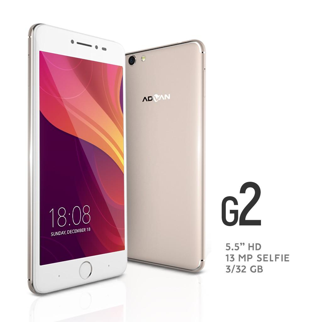 Advan G2 Selfie - 4G/LTE - RAM 3GB / ROM 32 GB - Batt 3500 mAh  + FREE Silicone Case