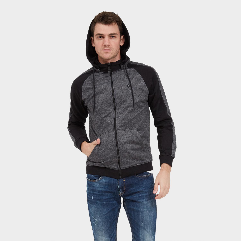 Cressida Nextlevel Color Block Hoodie Jacket A071 - Hitam