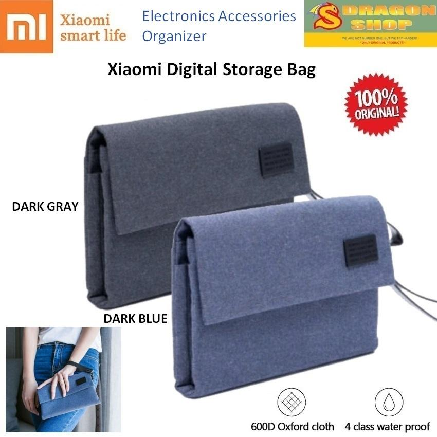 Xiaomi Digital Storage Bag Multi Partition - Electronics Accessories Organizer Bag Clutch Pouch Tas Penyimpanan Digital Xiaomi Original By Sdragon Shop.