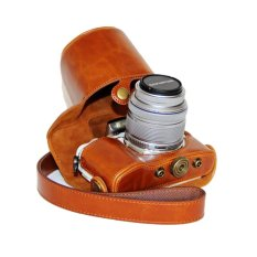 Dengpin Pu Leather Camera Case Cover For Olympus E Pl7 Brown Terbaru