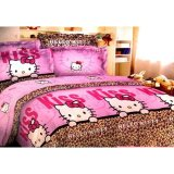 Ulasan Dewi Bedcover Hello Kitty Pink