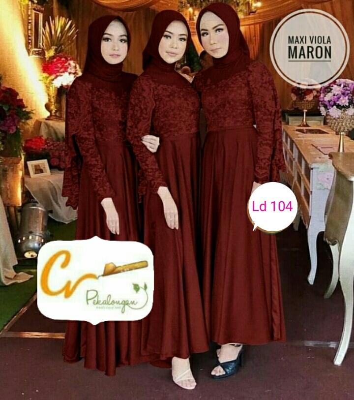 Seragam Maxi Viola Broklade Carnoll Fashion Wanita Batik Pekalongan f0ccfb5353