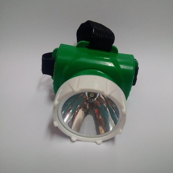 Senter Kepala / Headlamp 1 Mata 2017 (Baterai)