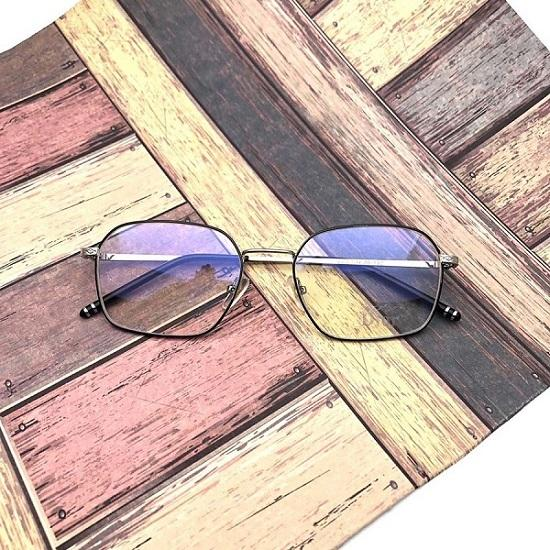 Kacamata DR93010-H75P145L46 Bahan Resin Unisex Lensa Clear Frame Hitam  Silver Bisa Tambah Resep - 9844b03392