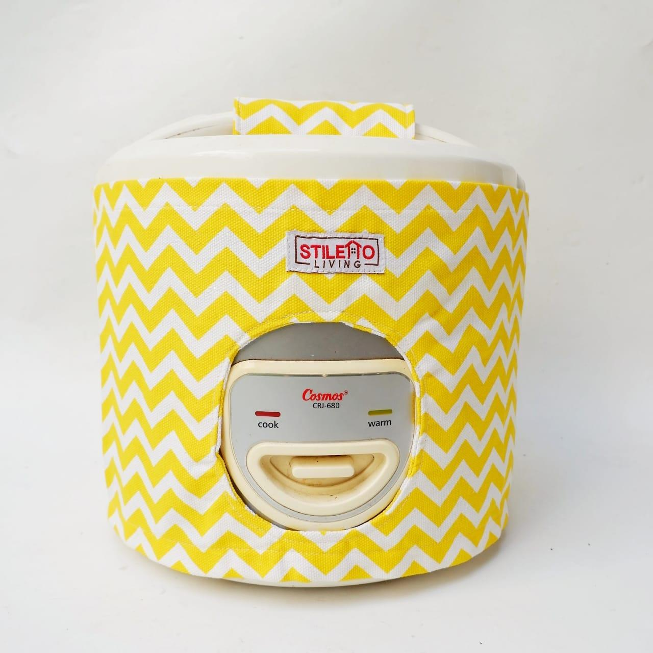 Cover Rice Cookers / Cover Magic Com - Yellow Chevron