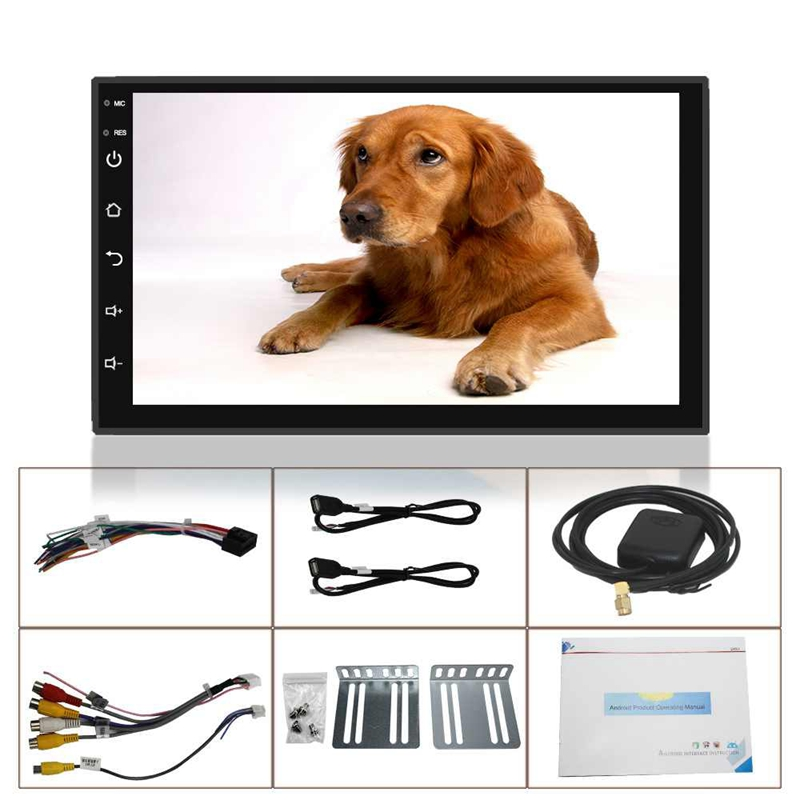 2 Din 7 Inch Android Bluetooth Mp5 Player Universal Car Radio Multimedia Player Bluetooth Gps Navigation Car Stereo Mirror Link Fm Wifi Headunit.
