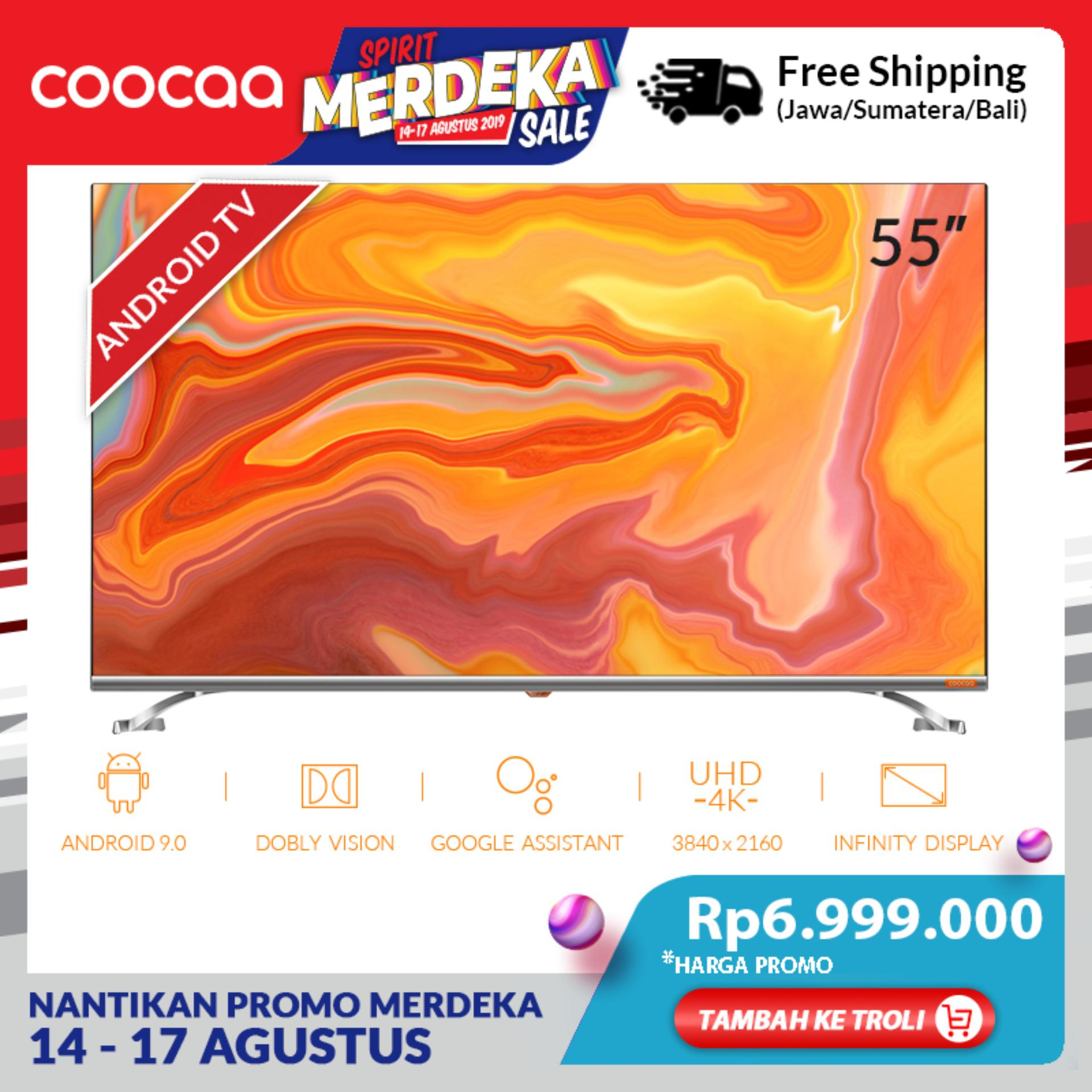 COOCAA 55 inch 4K Android 9.0 Smart LED TV- Dolby Vision- Infinity View- Ultra HD- Silm-Wifi (Model 55S6G)
