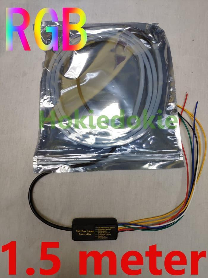 BISA COD Led RGB 1.5 meter multi mode Tail lamp, led bagasi , 12v 24v - 12v 150cm LAINNYA Lampu led kamar tidur/Lampu led motor/Lampu led rumah/Lampu led mobil/Lampu led aquarium