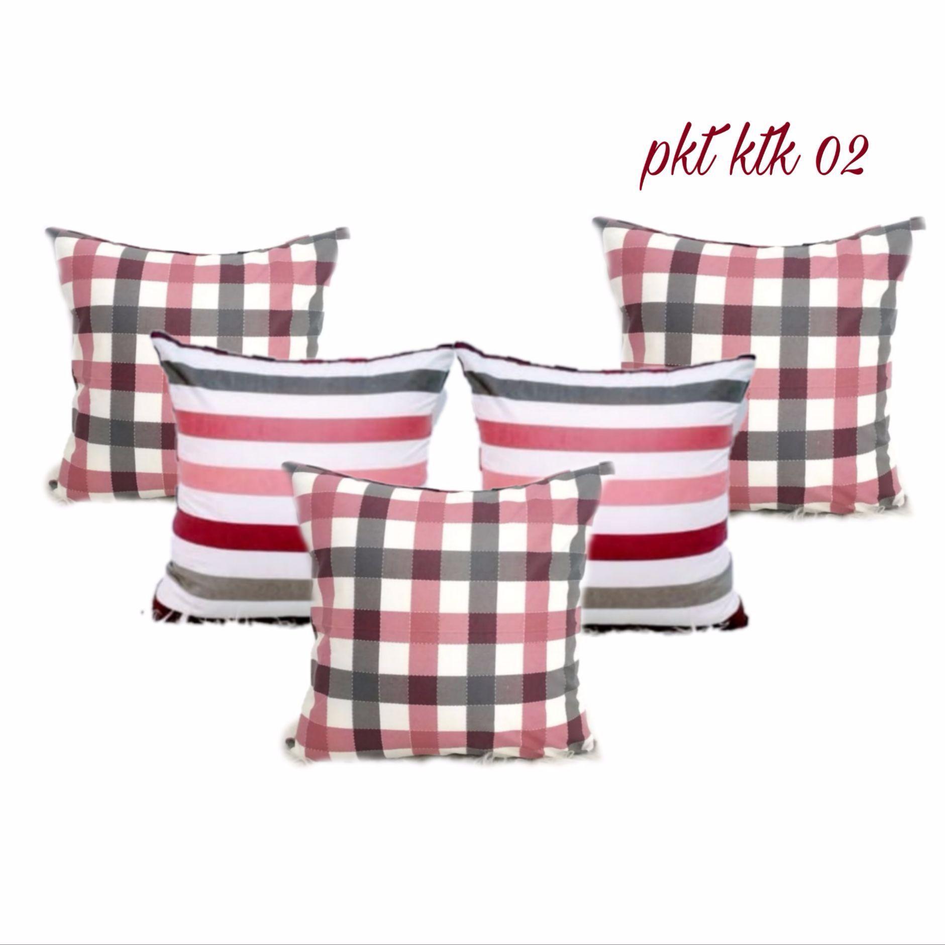 RAISASTORE- Sarung Bantal Sofa paket kotak 1 set = 5 Pcs ( size 40 x