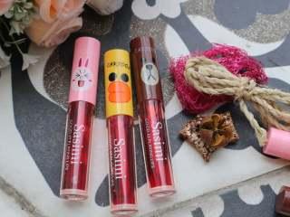 [1PCS SATUAN] SASIMI RED Cartoon Lip Tint Liptint Merah Liptint Matte Grosir Kosmetik thumbnail