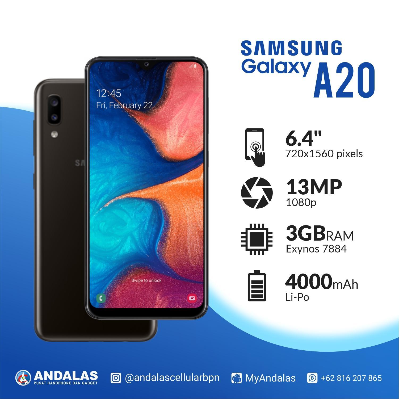 Samsung Galaxy A20 - RAM 3/32 GB ( GARANSI RESMI DI SELURUH INDONESIA )