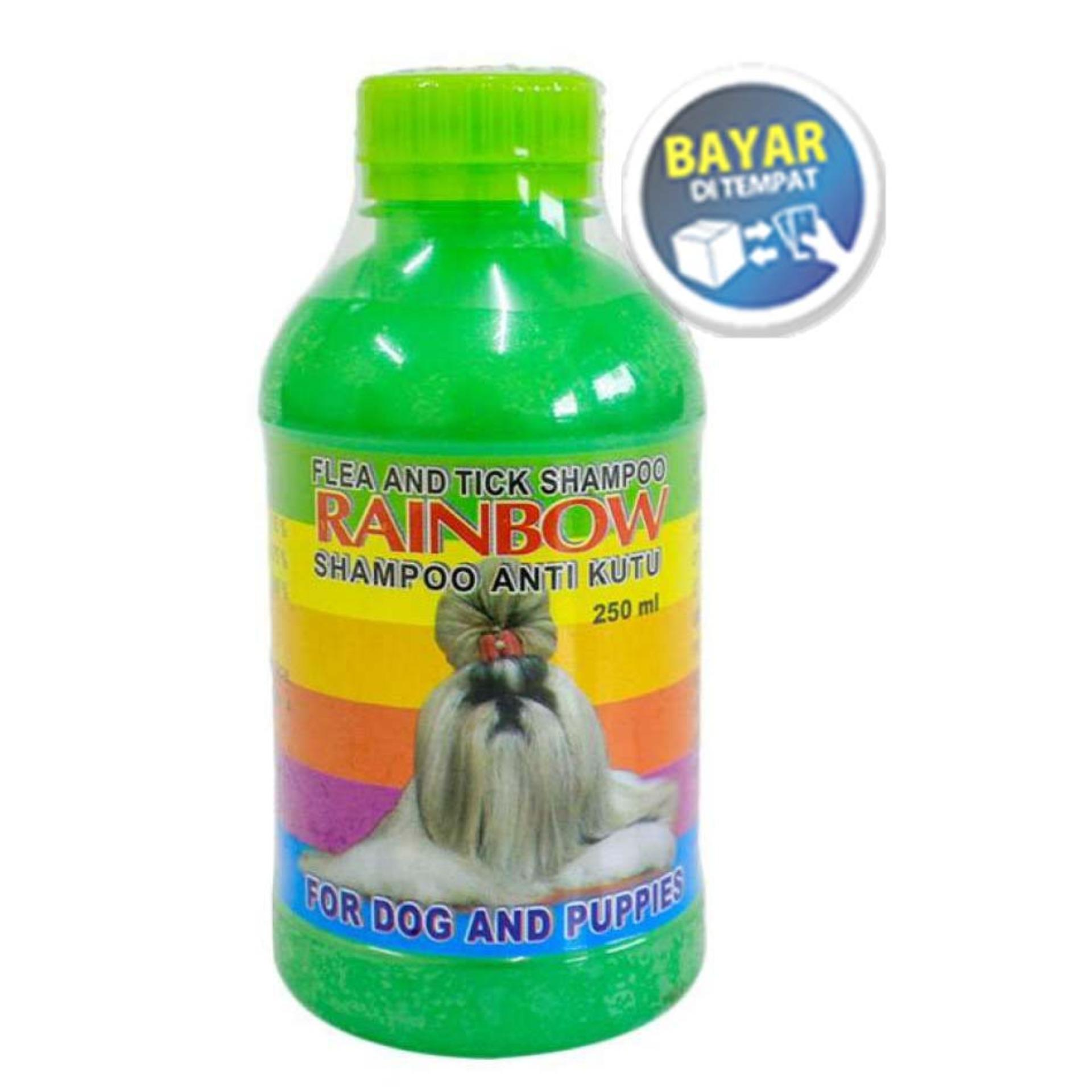 Shampoo Anti Kutu Anjing & Flea Rainbow Ukuran 250ml Hijau By Banyu Shop.