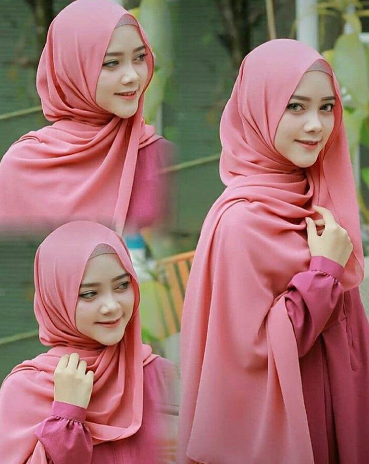 Jilbab / Hijab Pashmina SABYAN DIAMOND Italiano Stretch - Kerudung pasmina polos terhitz
