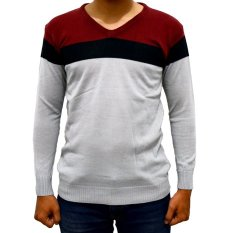 Review Difash Red Vino Man Knit Putih Merah Indonesia