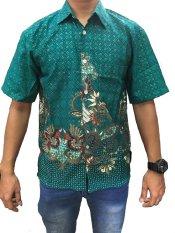 Cuci Gudang Diana Kemeja Batik Prada Benang Mas Hijau