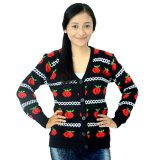 Harga Difash Fruit Cardi Woman Knit Hitam Diahfashion