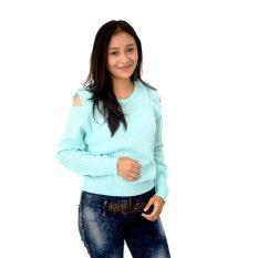 Spesifikasi Difash New Mayuki Blue Woman Knit Biru Muda Murah