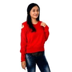 Toko Difash New Mayuki Woman Knit Merah Dekat Sini