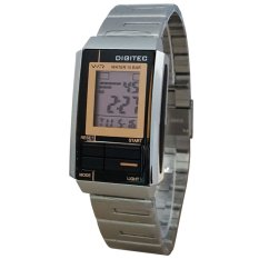 Digitec DG3022T-D Jam Tangan Wanita Stainless Steel Silver Hitam