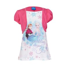 Disney Frozen Anna and Elsa Sparkling Elegant Ice T-Shirt Kids - Putih
