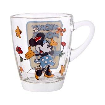Disney Minnie Glass Mug 320 ml Biru