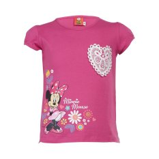 Review Terbaik Disney Minnie Mouse Heart Bordir Short Sleeve Tshirt Pink