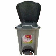 diva-Davi Tong sampah injak 5 liter - silver
