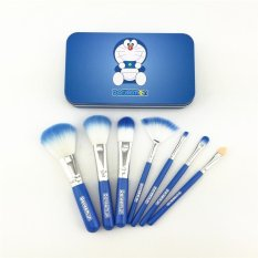 Spesifikasi Doraemon Makeup Brush Kit With Metal Box Biru Isi 7 Brush Baru
