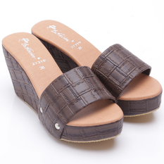 Promo Dr Kevin Women Wedges Sandals 27319 Brown Akhir Tahun