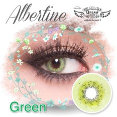 Toko Dreamcolor1 Albertine Green Softlens With Uv Protection Gratis Lenscase Online Terpercaya