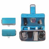 Model D Renbellony Gadgets Charger Organizer Light Blue Dompet Charger Tas Charger Dompet Kabel Charger Holder Terbaru