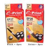 Spesifikasi E Print Refill Kit Gold Black Colour Hp 2Sets Hitam Terbaik