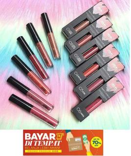 BAQO Implora Lip Cream Matte Lipstick 12 WARNA PILIHAN Lipcream Lipstik ( 01 Dusty Nude, 02 Terra Cotta, 03 Dark Berry, 04 Medeline, 05 Allure, 06 Lumiere, 07 Truffle Mouve, 08 Pink Latte, 09 Butterscotch, 10 Gingerbeard, 11 Red Bean, 12 Brown Sugar) thumbnail