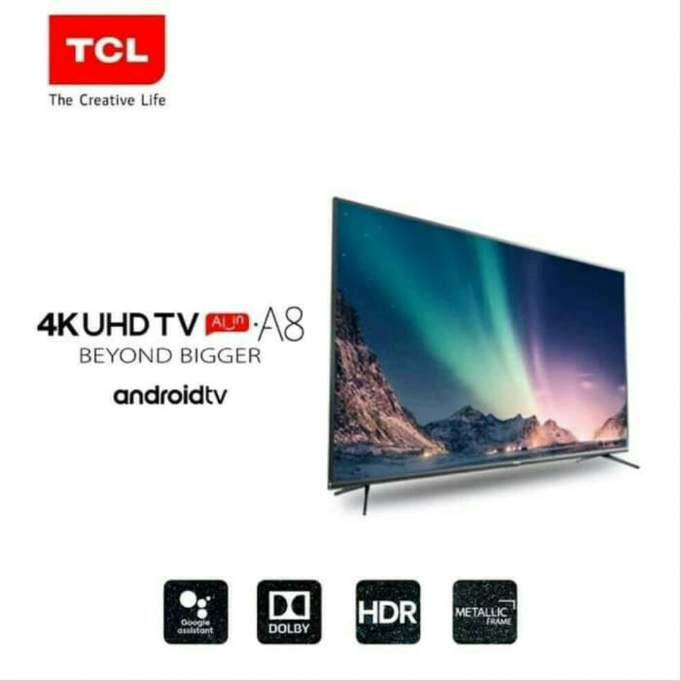 LED UHD 4K Smart Android TV 50 Inch TCL 50A8