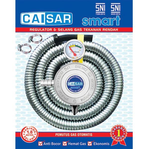 Selang Gas Paket Caisar Smart 1.8m Plus Regulator By Lancar Promosi.