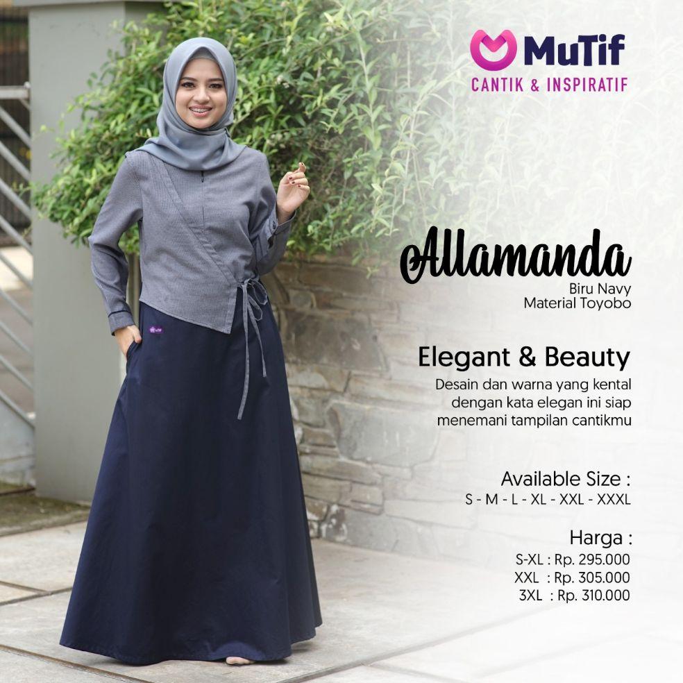 Gamis Mutif Allamanda Membeli Jualan Online Baju Kurung Dengan Harga Murah Lazada Indonesia