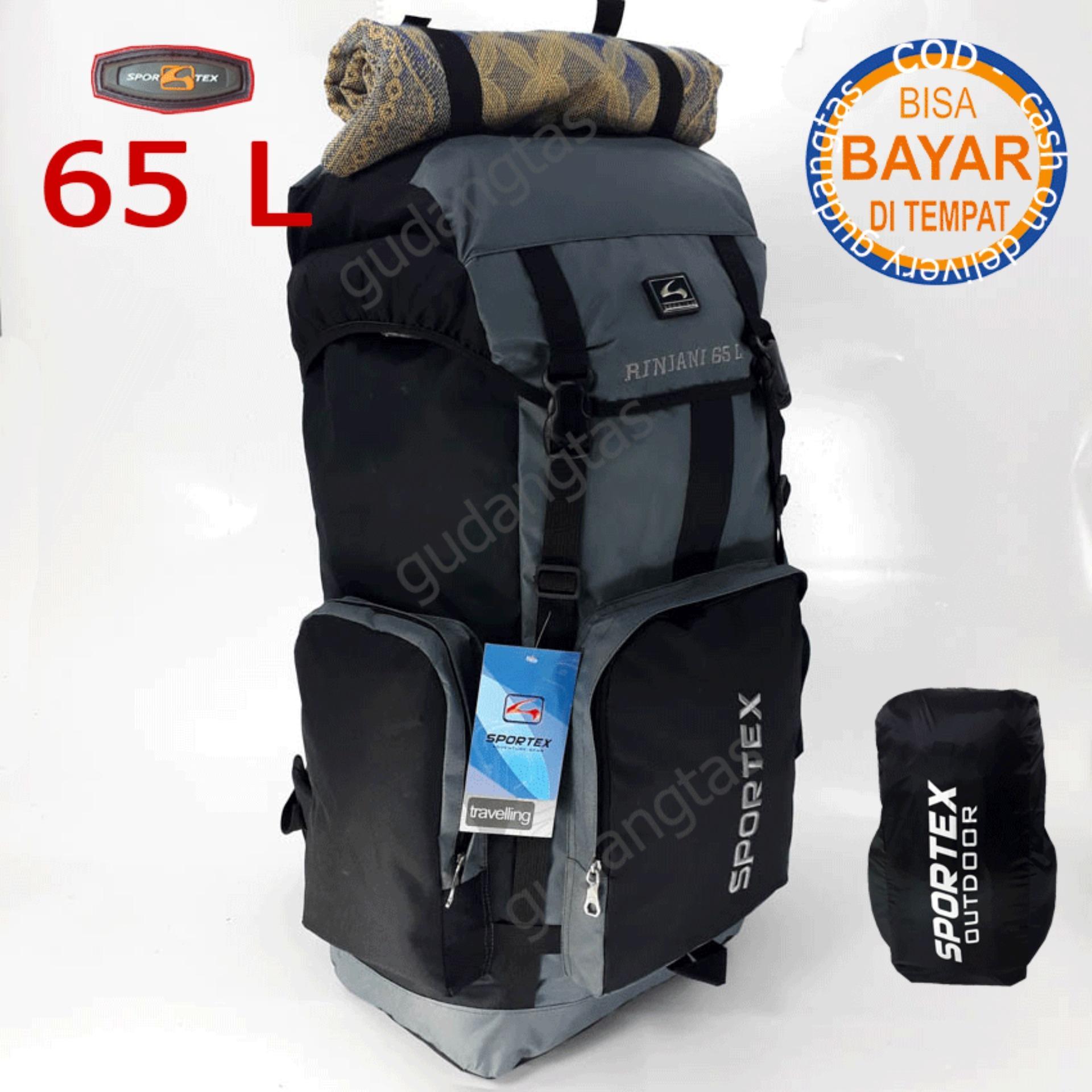 Sportex Tas Ransel Gunung Tas Keril Tas Carrier Tas Camping Tas Hiking 65L JUMBO Raincover GDTL0886
