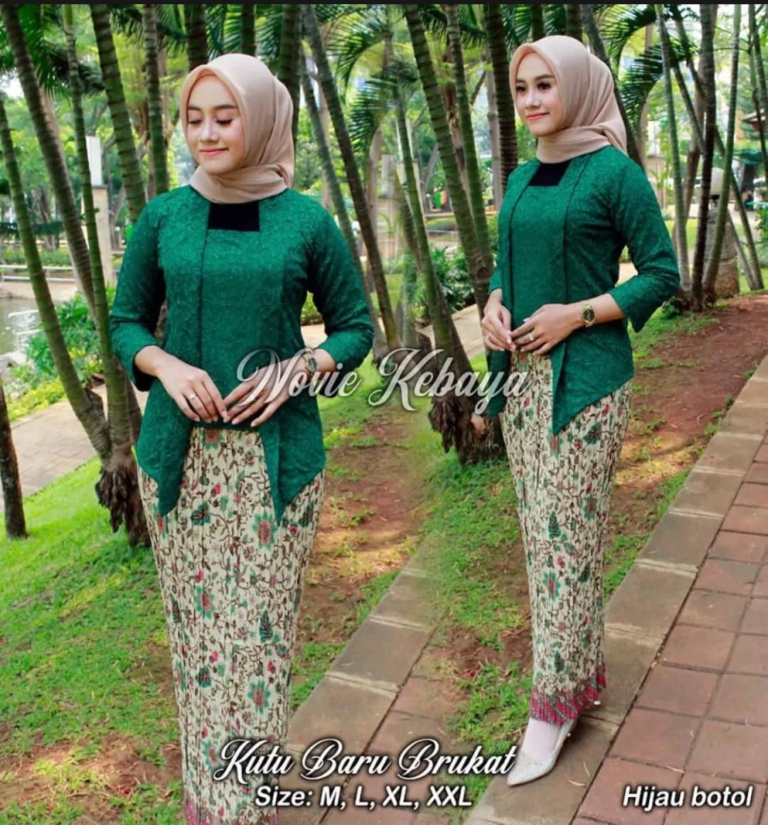 Setelan Kebaya KUTU BARU Brokat Modern Hijab Remaja Style Modis Cantik  BrokatSetelan Pakaian Baju KebayaKebaya Tradisional/Kebaya Wisuda/Kebaya