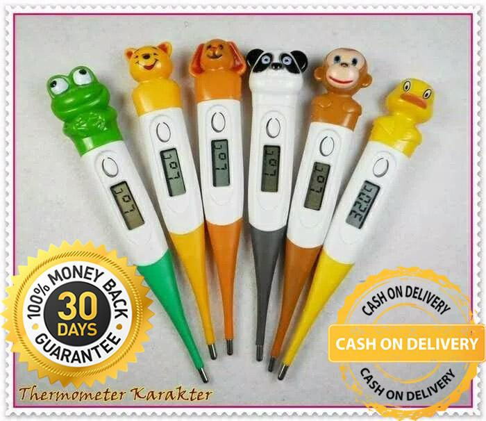 Termometer Digital Alat Ukur Suhu Anak Pengukur Suhu Tubuh Bayi Thermometer Karakter Lucu - 1 Pcs By Health And Beauty Solution.