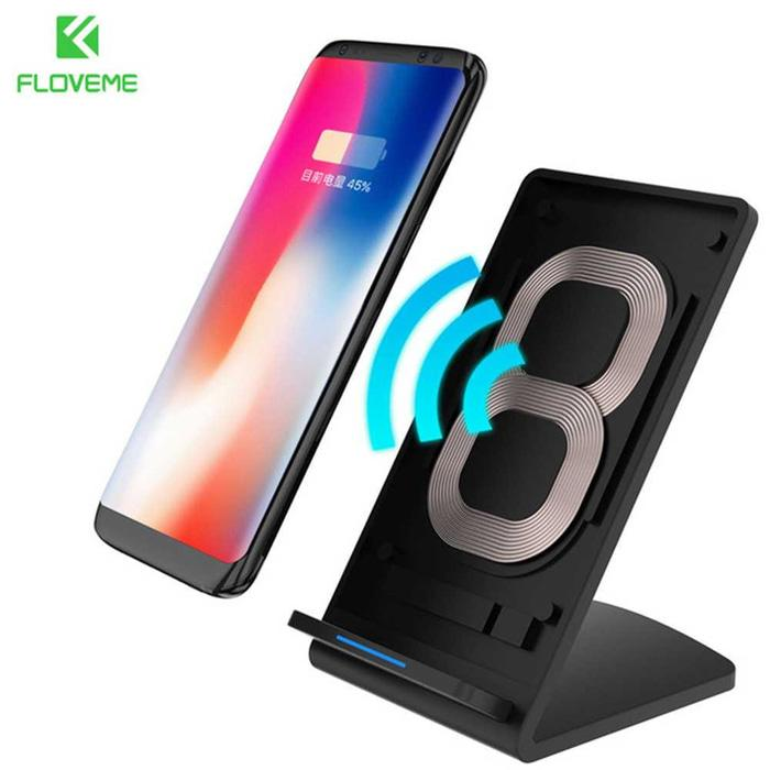 Floveme Qi Wireless Charger Stand for Smartphone