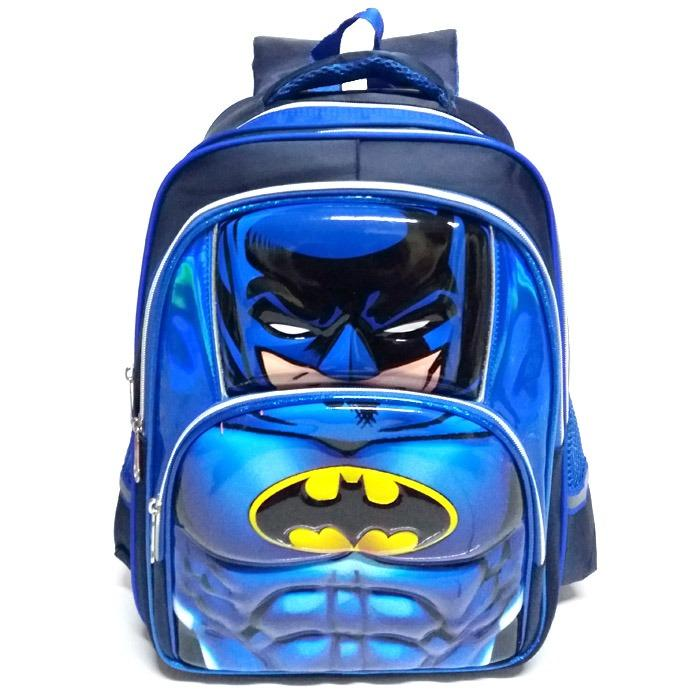 Onlan Tas Ransel Anak Sekolah SD Import Motif Avengers - Batman - Spiderman - Iron Man Super Hero 6D Timbul Soft Hard Cover